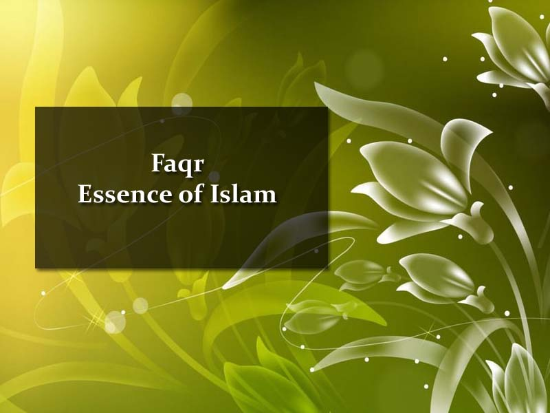 Faqr, Essence of Islam, Sultan